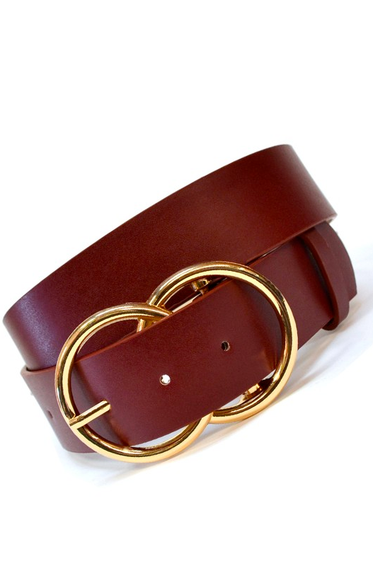 Double Ring Jean Belt in Wine