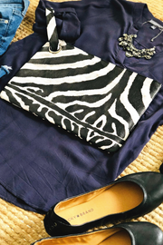 Zebra Clutch - Melissa Jean Boutique