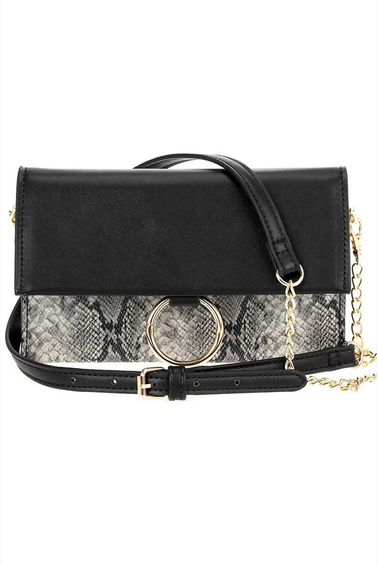 Take a Bite Faux Snakeskin Clutch - Melissa Jean Boutique