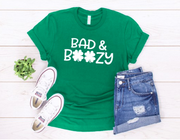 Bad and Boozy Crew Neck Soft Tee - Melissa Jean Boutique