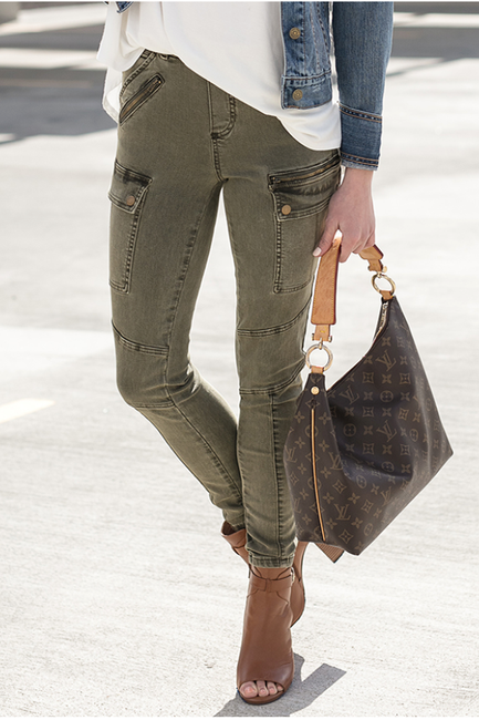 Olive Cargo Jeggings
