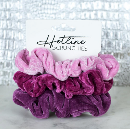 Bubblegum Velvet Scrunchies - Melissa Jean Boutique