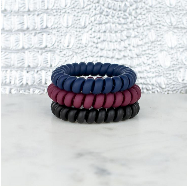 Ivy League Hotline Hair Ties Matte Set - Melissa Jean Boutique