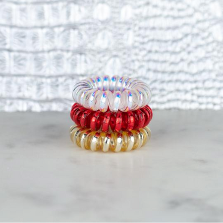 Sparkler Mini Set of 3 Hotline Hair Ties - Melissa Jean Boutique
