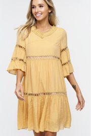 Christine Mustard Yellow Babydoll Dress - Melissa Jean Boutique
