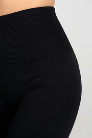 Niki High Waist Band Black Leggings - Melissa Jean Boutique