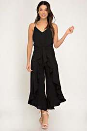 Stop For Nothing Black Jumpsuit - Melissa Jean Boutique