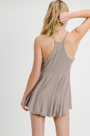 Daybreak Strappy Khaki Knit Top - Melissa Jean Boutique