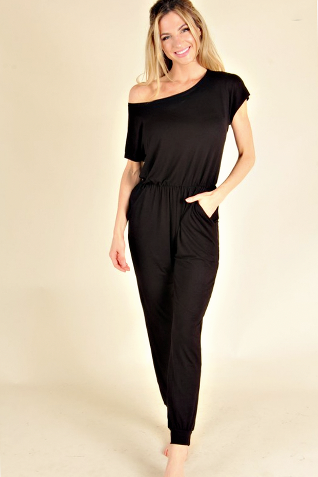 All or Nothing Black Jumpsuit - Melissa Jean Boutique