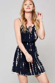 Making the Moves Navy Tie Dye Midi Dress - Melissa Jean Boutique