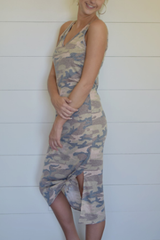 Stand Tall Camo Double V-Neck Dress - Melissa Jean Boutique