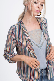 Chasing Waterfalls Striped Jacket - Melissa Jean Boutique