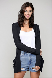 Cozy Black Cardigan - Melissa Jean Boutique