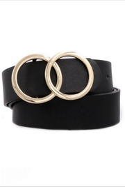 Oh So Chic Black Double O Belt - Melissa Jean Boutique