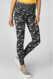 Charcoal Camo Leggings - Melissa Jean Boutique