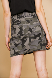 Grey Camo Skirt - Melissa Jean Boutique