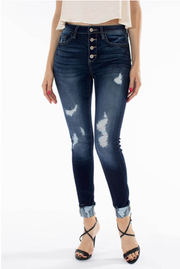 Cute As A Button Skinny Jeans - Melissa Jean Boutique