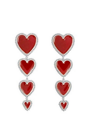Dripping Red Hearts Earrings - Melissa Jean Boutique