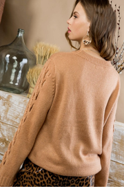 Toasted Nut Sweater - Melissa Jean Boutique