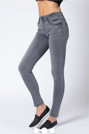 Grey Denim Skinny Jeans by KanCan - Melissa Jean Boutique
