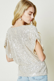 Celebrations Sequin Dolman Top - Melissa Jean Boutique