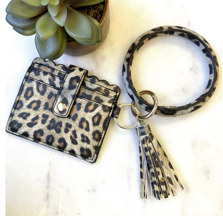 Perfect Little Cardholder and Bangle Set -Leopard - Melissa Jean Boutique