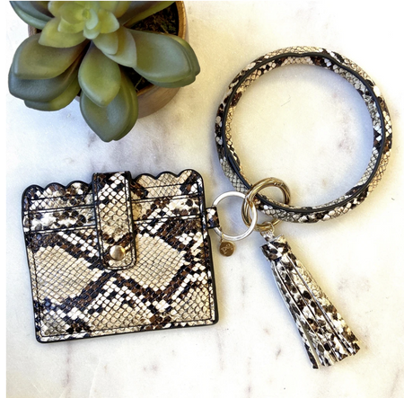 Perfect Little Cardholder and Bangle Set -Snake - Melissa Jean Boutique