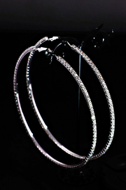 "Bling Bling 3"" Sparkly Hoops - Melissa Jean Boutique"