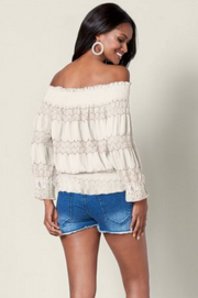 Love to Love You Cream Lace Top - Melissa Jean Boutique
