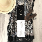 Mix it Up Abstract Kimono - Melissa Jean Boutique