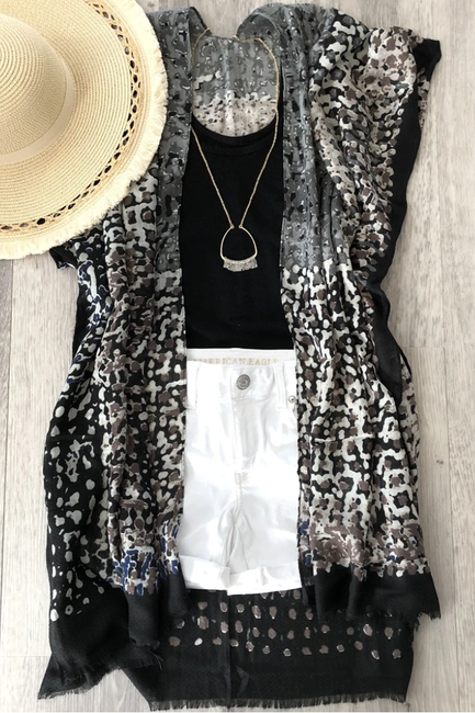 Mix it Up Abstract Kimono