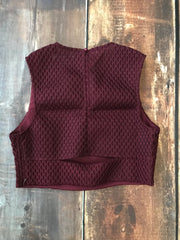Wine Crop Top - Melissa Jean Boutique