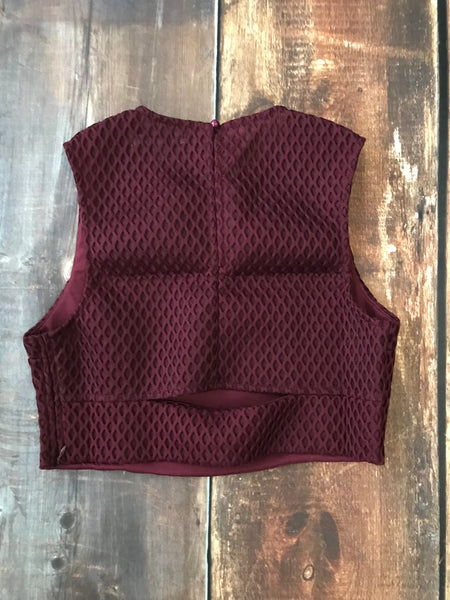 Wine Crop Top