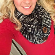 Black Button Scarf - Melissa Jean Boutique