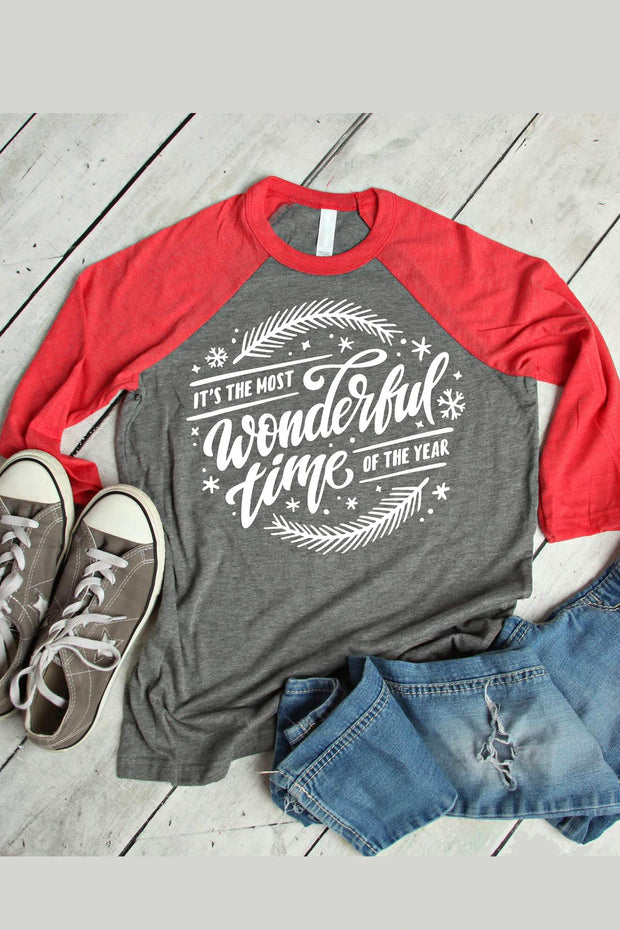 It's the Most Wonderful Time Tee - Melissa Jean Boutique