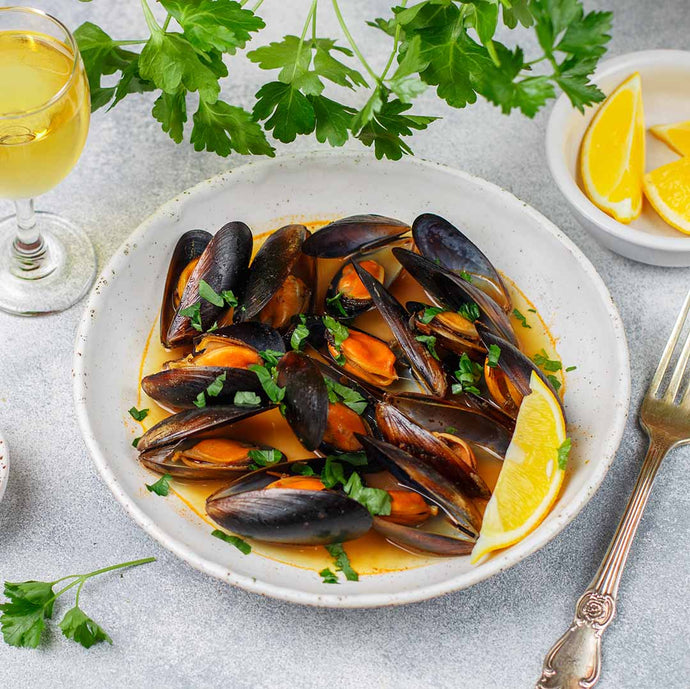 Coriander & Parsley Mussels