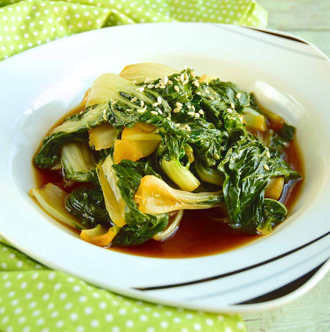 Bok Choy with Ginger and Sesame choi