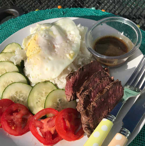 Beef loc lac, a simple and quick steak dish