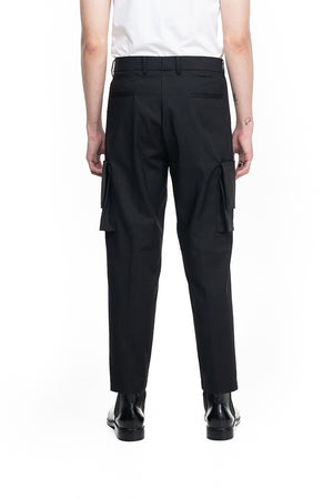 BLACK CARGO PANTS WITH EXTRA POCKETS