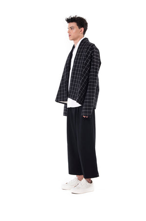 Black Checkered Wrapped Outer