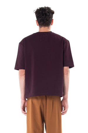 Burgundy Shirt With Extra Large Pocket