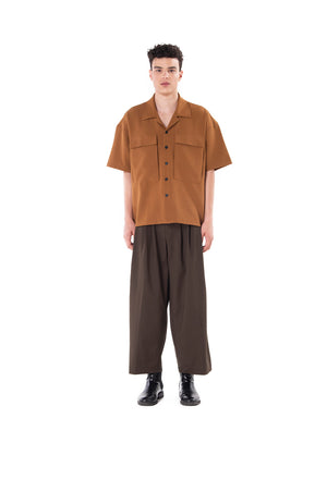 Camel Camp Short Sleeves Shirt with Extra Large Pockets