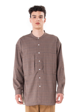Brown Checkered Outer Shirt With Lining
