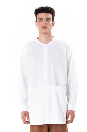 White Relaxed Shirt With Pockets