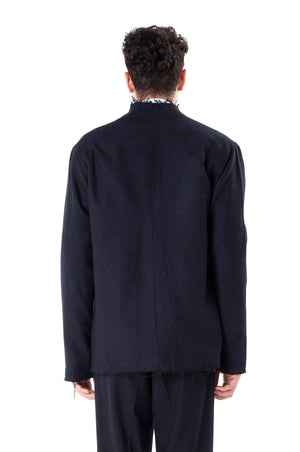 Unfinished Navy Wool Outer