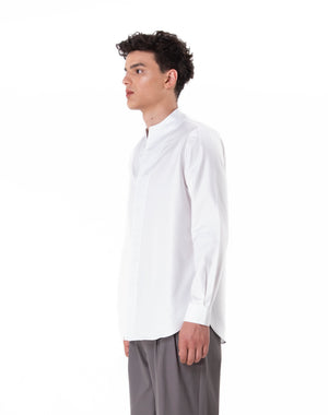 White Textured Collarless pt.I Long Sleeves Shirt