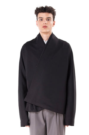 Black Scuba Wrapped Outer
