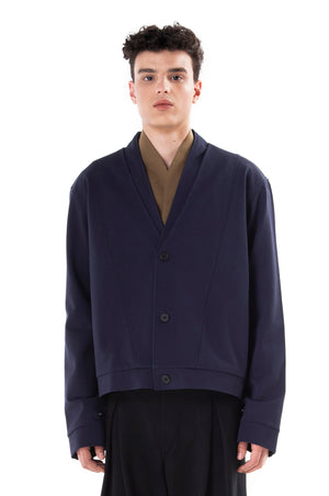 Blue Navy Layered Jacket