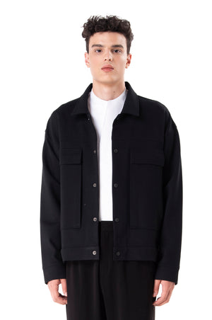 Black Jacket With Extra Large Pockets