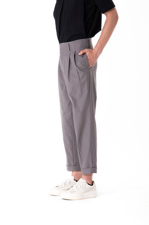 Waistbandless Grey Pants